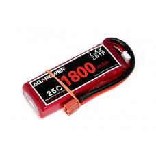 Аккумулятор AGA POWER Li-Po 1800mAh 7.4V 2S 25C Softcase 13x34x106мм T-Plug